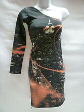 Motel Adriane Bodycon Dress Black City Scene Motel Rocks Bnwt New XS – UK 8