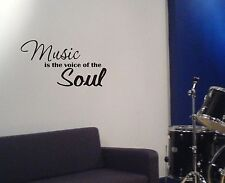Music Is The Voice Of The Soul Wall Decal removable sticker decor quote words