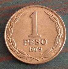 1979 Chile 1 Peso Coin Republica De Chile South America