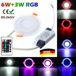 10x RGB LED Panel Einbaustrahler Deckenspots Einbau Leuchte spot slim Dimmbar