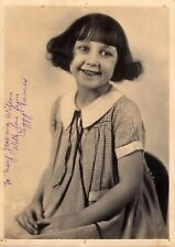 PEGGY EAMES AUTOGRAPHED HAND SIGNED VINTAGE 5x7 PHOTO 1920's OUR GANG RARE!