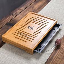 Gongfu Tea Table KungFu Tea Set Natural Bamboo Tea Tray Serving Tray 43*28*5cm