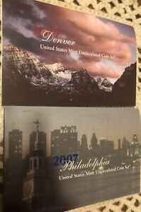 2007 P&D UNITED STATES PHILADELPHIA & DENVER MINT 28 COIN SET UNC