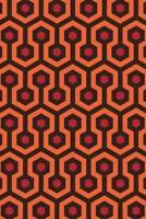 Overlook Hotel Retro Carpet Hexagon Pattern Art Print Mural Poster 36x54 inch