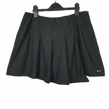 NIKE Dry-Fit Womens Size 16/18 UK Insert Shorts Black Sportswear Tennis Skort