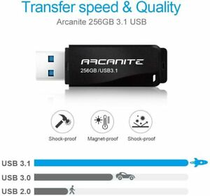 ARCANITE 256 GB USB 3.1 SuperSpeed USB-Stick, Lesegeschwindigkeit von bis zu 400