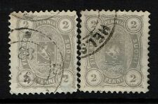 Finland SC# 25, Used, two varieties, each have a thin - Lot 082217
