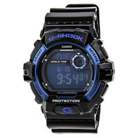 Casio Men's Watch G-Shock Blue Digital Dial Black Resin Strap G8900A-1