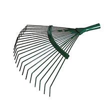 42cm Steel Fan Rake Head Replacement for Garden Patio Leaves Leaf Lawn Moss 18T