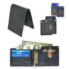 RFID Wallets for Men - Premium Leather - Free 2 Card & 2 Passport RFID Sleeves