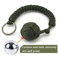 Paracord Lanyard Keychain Outdoor Survival Military Parachute Rope Cord Ball New