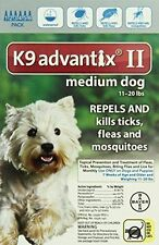 K9 Advantix II Medium Dog Dogs 11-20 lbs 6 Month Control Fleas Ticks Mosquitoes