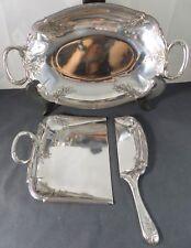 CHRISTOFLE GALLIA Rare SET Antique Bread crumb scoop & Fruits dish 1900 LouisXVI