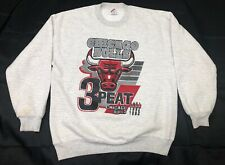 VINTAGE Jerzees CHICAGO BULLS 3-PEAT 1993 NBA CHAMPIONS XL Sweatshirt