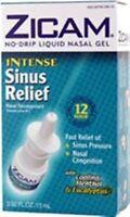 Zicam Intense Sinus Relief Liquid Nasal Gel 0.50 oz (Pack of 6)