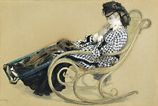 J. Jaques Tissot Reproduction: Young Woman in a Rocking Chair - Fine Art Print