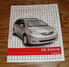 Original 2006 Toyota Sienna Sales Brochure 06