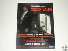 Timbaland Shock Value Double Sided Poster Album Promo