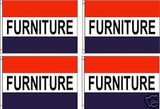 Furniture 3x5ft. Flags/Banner/Sign. Pack Of 4 Same Day Ship