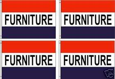 Furniture 3x5ft Flagsbannersign Pack Of 4 Same Day Ship