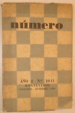 Revista NÚMERO Nº 10-11. Montevideo. Idea Vilariño, Mario Benedetti, E. Sabato