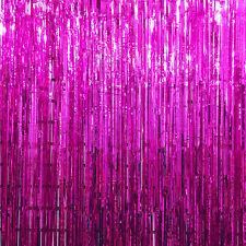 Metallic Foil Fringe Door Curtains Decor Birthday/Wedding Party Photo Backdrop