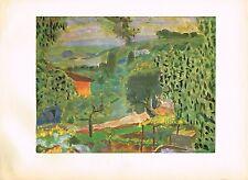 1940s Original Vintage Pierre Bonard Paysage Landscape Offset Litho Art Print