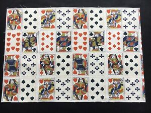 Andrew Martin Fabric Sample / Remnant PLAYING CARDS CROUPIER - 45cm X 66cm