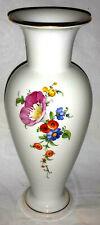 KPM Berlin Blumenvase Vase mit bunten Blumen und Gold  24cm
