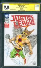 Justice League 1 CGC 9.8 SS Castrillo Original art Hawkman Sketch Movie