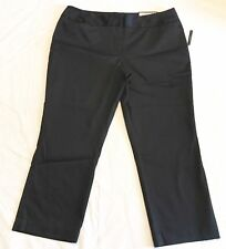 Worthington Womens Dress Pants 16 Tall Black Crop Lengthl Modern Fit Slim Leg