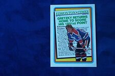 1990-91 TOPPS GRETZKY RETURNS HOME TO SCORE HIS 1851ST POINT  # 2