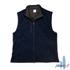 Johnnie-O Mens 2XL Sleeveless Zipper Sweater Vest 100% Polyester Blue