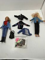"""1993 Laiko Int'l 15"""" Two Dolls, Clothes, And Accessories"""