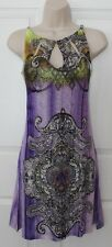 NEW Christina Love Lilac Chain Neck Stub Embellished Sun Dress $65