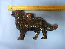 Vintage Heavy Cast Iron Dog Bank