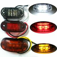 Super White LED Side Marker Clearance Light Lamp Car Truck Trailer Caravan 12V