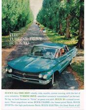 1960 Buick LE SABRE Turquoise 4-door Hardtop Turbine Drive VTG PRINT AD