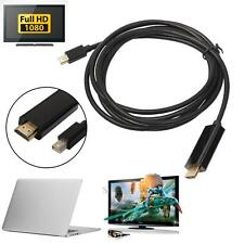 6ft Mini Display Port DP Male to HDMI Male Cable Adapter for Macbook Apple Mac
