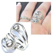 Bague longue originale en argent massif 925 T 56 bijou ring