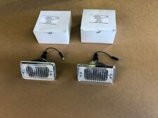 Ford Escort mk1 Front Indicator Units with Clear lens with chrome surround.pair.