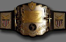 New AWA Championship Belt Heavyweight Wrestling Belt with metal plates