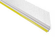 2 Mètres Baguette de Crépi 6mm Profil Plâtre Paroi en Pente PVC 10cm Tissu