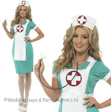 Ladies Scrub Nurse Doctor Fancy Dress Costume Hen Party Adult Outfit Large 25870