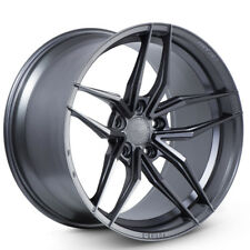 """20"""" FERRADA F8-FR5 GRAPHITE CONCAVE WHEELS RIMS FITS FORD MUSTANG GT GT500"""