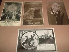 POSTCARDS X 4 SET OF VARIOUS GREETINGS ALL B&W PHOTOGRAPHS POSTED & UNPOSTED