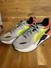 Puma RS-X Hard Drive Men's Grey Yellow Orange Neon Shoes 369818-01 Size 11 NWOB