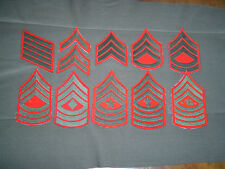 USMC very early vietnam EM chevron set cut edge winter service wool