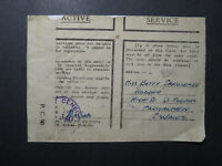 India 1945 Forces Cover / APO 293 (SOUTH INDIA) / Censored - Z12415
