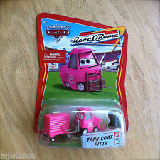 Disney PIXAR Cars TANK COAT PITTY Jerry Drivechain diecast RACE O RAMA #74 pink